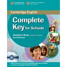 Complete Key for Schools Student's book without answers + CD-ROM
