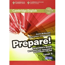 Prepare! Level 5 Teacher's Book + DVD + Teacher's Resources Online