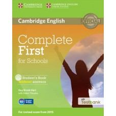 Complete First for Schools Student's Book without Answers + CD-ROM + Testbank