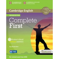 Complete First (2nd) Student's Book without Answers + CD-ROM + Testbank