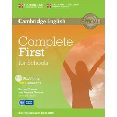 Complete First for Schools Workbook with answers + Audio CD