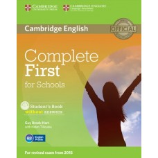 Complete First for Schools Student's Book without Answers + CD-ROM