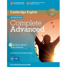 Complete Advanced (2nd) Student's Book Pack (Student's Book with Answers + CD-ROM + Class Audio CDs)