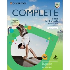Complete First for Schools (2nd) Student's book without answers + Online Practice and Workbook without Answers + Audio Download