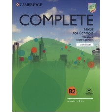 Complete First for Schools (2nd) Workbook without Answers + Audio Download
