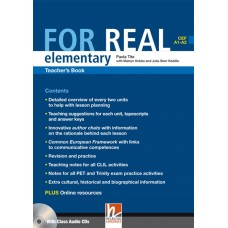 For Real Elementary Teacher's Book + Class Audio CDs + Interactive Book DVD-ROM