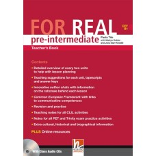 For Real Pre-intermediate Teacher's Book + Class Audio CDs + Interactive Book DVD-ROM