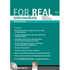 For Real Intermediate Teacher's Book + Class Audio CDs + Interactive Book DVD-ROM